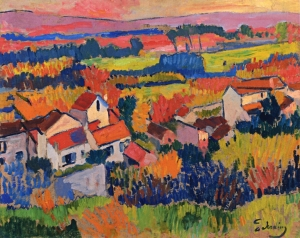 Landscape Near Chatou -1904 by Andre Derain