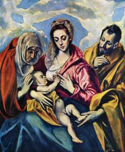 """The Holy Family"" El Greco"