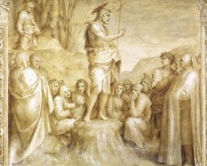 """Andrea del Sarto - """"Scalzo"""" grisaille fresco"""