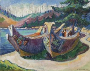 Emily Carr War Canoes, Alert Bay